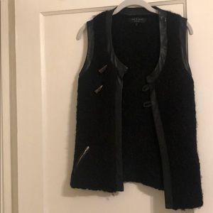 Alpaca wool Rag & Bone vest with horn closure